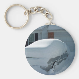 """""""Snöbil"""" överst av bilen. Snöstorm 2010 Nyckel Ringar"""