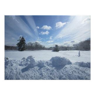 Snödag Fototryck