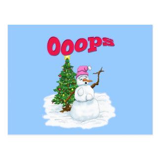 Snödam med julgranen OOps Vykort