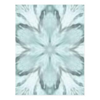 Snöflingor av blått vykort
