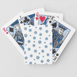 Snöflingor (blått & svart) spelkort