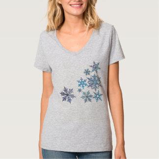 Snöflingor broderad look, digital målning t shirt