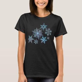 Snöflingor broderad look, digital målning tshirts