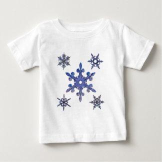 Snöflingor broderad look t shirts