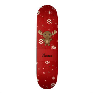 Snöflingor för känd älg för personlig röd skateboard bräda 20,5 cm