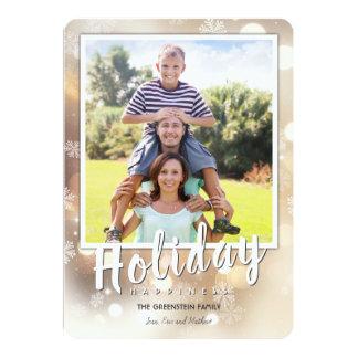 Snöflingor och ljust helgdagkort för ljus   12,7 x 17,8 cm inbjudningskort