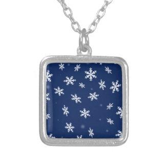 Snöflingor Silverpläterat Halsband