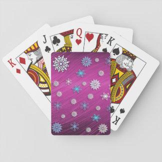 Snöflingor som leker kortet spel kort