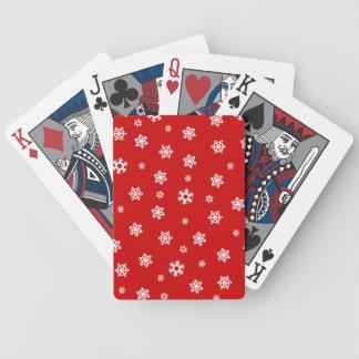 Snöflingor (vit) spelkort