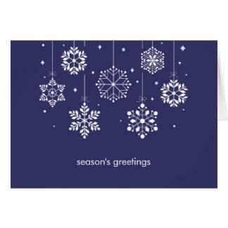 Snöflingormobilen Julhälsningar kortet Hälsningskort
