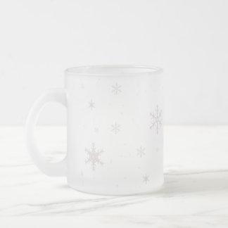 Snöflingormugg Frostad Glas Mugg