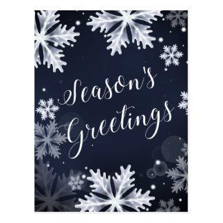 snöflingorsäsonhälsningarhelgdagskort vykort