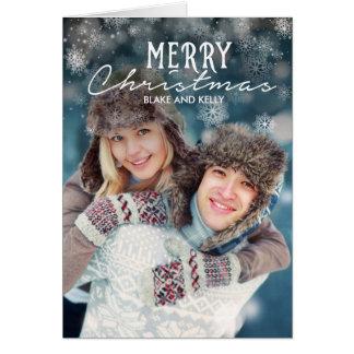 Snögod julkort hälsningskort