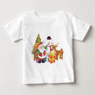 Snögubbe för julgranSanta ren Tee