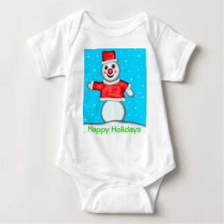 Snögubbe glad helg tröja