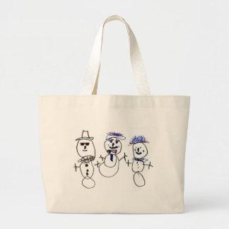 Snögubbe och familj