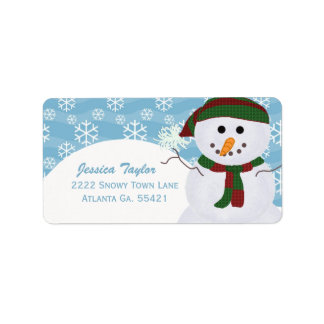 Snögubbeadressetiketter Adressetikett