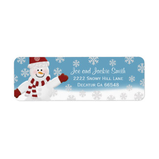 Snögubbeadressetiketter Returadress Etikett