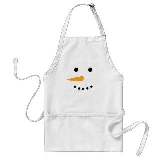 Snögubbeansikte Förkläde