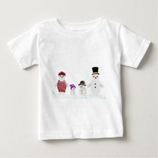 snögubbefamilj tee shirts
