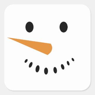 Snögubbeklistermärkear Fyrkantigt Klistermärke