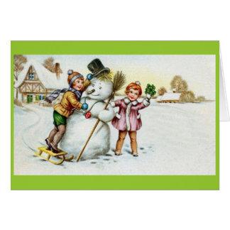 snögubbekort hälsningskort