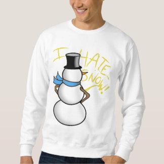 snögubben som peeing hatar jag, snö sweatshirt