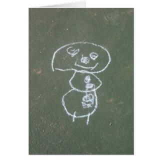 Snögubbeteckningbarn Hälsningskort