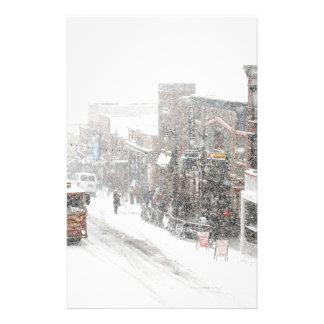 snöig dag brevpapper