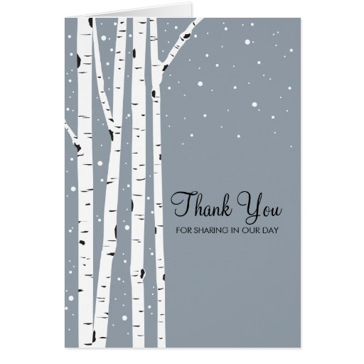 Snöig dagbjörkträd hälsnings kort