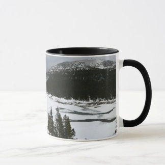 Snöig Ellery fotografi för sjöKalifornien vinter