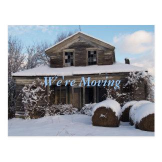 Snöig flyttar oss Morgon-Vi Vykort
