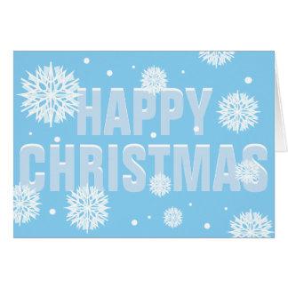 """Snöig kort för hälsningar """"för lycklig jul"""" för"""