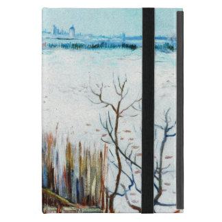 Snöig Van Gogh landskap w Arles, vintagekonst iPad Mini Fodral