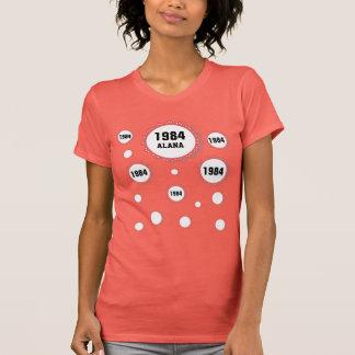 Snöre för 30års födelsedag 1984 bubblar t shirt