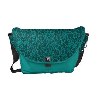 Snöre för krickablåttgrönt med smycken kurir väskor