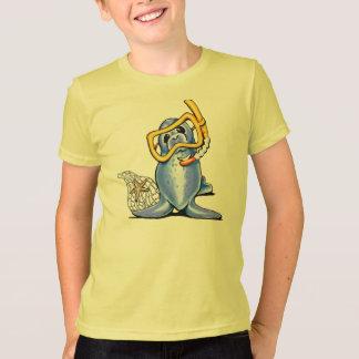 Snorkelen förseglar t-shirt