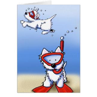 Snorkeling Westies noterar kortet OBS Kort
