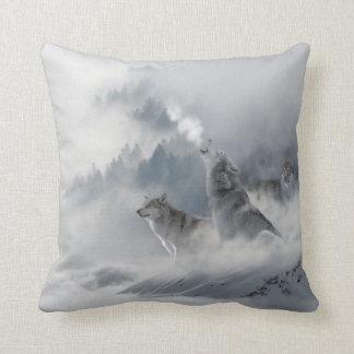 Snövargtryck Kudde