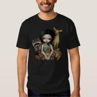 Snövit och henne djur vänskjorta tshirts