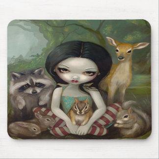 Snövit och henne djura vänner Mousepad Mus Mattor