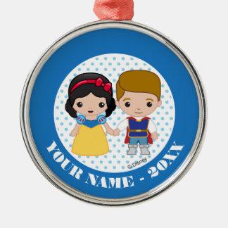 Snövit och namn för Prince Charmig Emoji Tillfoga Julgransprydnad Metall