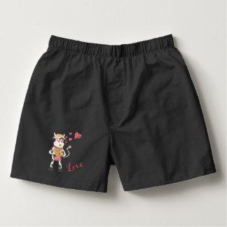Snowbell förälskad manarsvart boxers