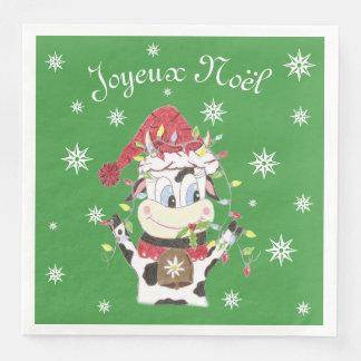 Snowbell kon & julaftonljuset skyler över brister papper servetter