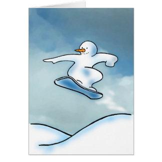 Snowboarder Hälsningskort