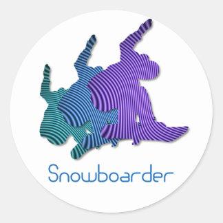 Snowboarderlogotypklistermärkear Runt Klistermärke