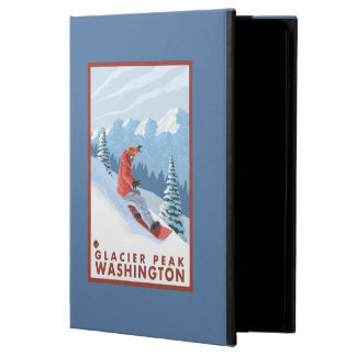 Snowboarderplats - maximal glaciär, Washington iPad Air Fodral