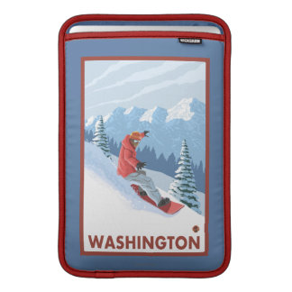 Snowboarderplats - Washington Sleeve För MacBook Air