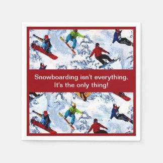 Snowboardingen är inte allt servetter