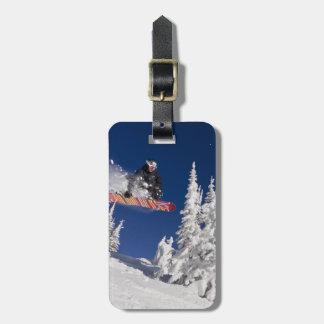 Snowboardinghandling på Whitefishbergsemesterorten Bagagebricka